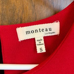 Monteau Dresses - Red Shift Dress
